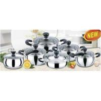 China 12 PCS ss 201 Apple Stainless Steel Cookware Sets with Thickness 0.45 mm on sale