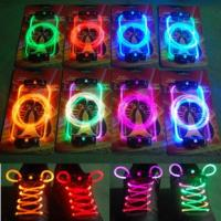 Cost Effective Yellow-Pink LED Flashing Shoelace Manufactures