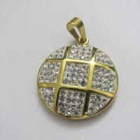 Gold Plating Stainless Steel Crystal Pendants for Women Manufactures