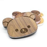 Cherry / Walnut / Bamboo Qi Wood Grain Wireless Charger CE / RoHS Certificated