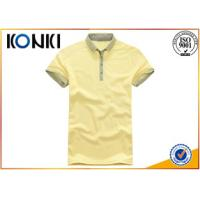 China Knitted Technics Boys Short Sleeve Button Down Polo Shirts For Summer on sale