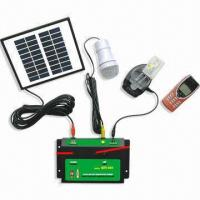 Portable Solar Lighting Charging Kit, Body made of ABS, Eco-friendly, Measures 24.5 x 19.5 x 5.1cm Manufactures