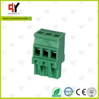 Plug Type Connector Terminal Block Wire Range 28 - 12 AWG , Plug in Terminal Block Manufactures