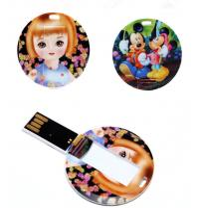 China Round Shape Mini USB Business Card Memory Stick 4GB 8GB on sale