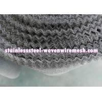 "Crimped Stainless Steel Knitted Mesh Width 30"" / 42 Inch Wear - Resistance For Oil - Gas Separation Manufactures"