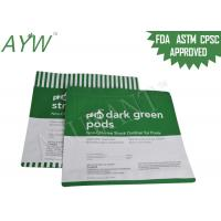 China Oxidizer Proof  Food Packaging Plastic Bags /Green Stand Up Zipper Bags With Tear Notch on sale