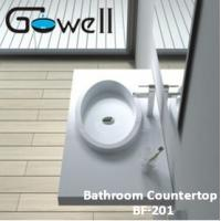 China Acrylic Solid Surface Bathroom Countertop on sale