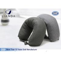 Gray Microbeads Car Neck Rest Pillow With Lycra Cover , 100% Polyester Materials Manufactures