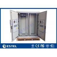 Dual Bay IP55 Telecom Equipment Cabinete , Outdoor Power Enclosure With PDU Monitor Manufactures