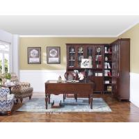 Quality Rubber Wood Home office room furniture bookcase set by Glass door with Shelves for sale