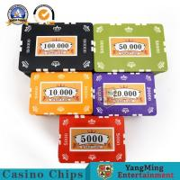 China 760 PCS Custom Printed Clay Plastic Poker Chips Gift Set In Silver Aluminium Case on sale