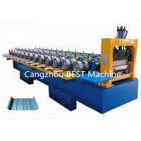 Bemo Standing Seam Steet Boltless Roof Panel Roll Forming Machine Hydraulic Cutting Type for sale