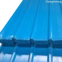 PE Coating Corrugated Metal Roofing Sheets , Shelter Shed Colour Coated Roofing Sheets Manufactures