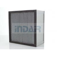 SUS304 Frame Clean Room HEPA Air Filter H13 With High Temperature Resistance Panel Manufactures