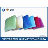 Square Shaped Traditional Memory Foam Pillow With Velvet And Comfort Pillowcase Manufactures
