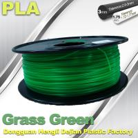 Grass Green biodegradable 3d printer filament PLA 1.75mm materials Manufactures