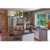 New model kitchen cabinet, L-shaped kitchen cabinet, flat pack kitchen cabinet Manufactures