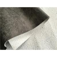 China Dark Grey Leather Fabric , Hot Stamping Leather Upholstery Fabric wholesale