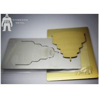 Gold Inspirational  Custom Metal Bookmarks For Women , Personalized  Plain Metal Bookmarks Manufactures
