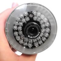 Night Vision Home Surveillance IP Camera , PNP Bulb Hidden Cameras With CMOS BC881H Manufactures