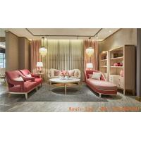 New Classic villa house living room furniture of Wood structure sofa set with Armchair and coffee table TV stand cabinet Manufactures