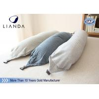 U Shape Memory Foam Pillows / Travel Microbead Neck Pillow With Lycra Cover Manufactures