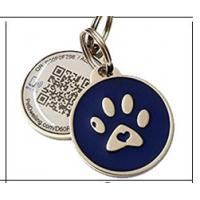 Personalized Custom RFID Tags Metal Id QR Code Pet Tag For Dogs / Cats Manufactures