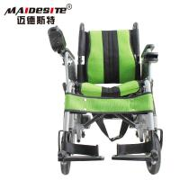 Stable Small Motorized Wheelchair , Fold Up Motorized Wheelchair Shock Absorbing Manufactures