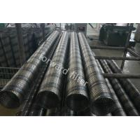 Steel Sand Control Screens , Perforated Stainless Pipe With Round Slot And Square Manufactures