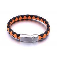Custom Wholesale Handmade Mens Women Stainless Steel Braided Leather Rope Bracelet Manufactures