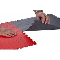 Durable Interlocking Garage Floor Tiles PVC Flooring Mats Waterproof 7mm thickness Manufactures