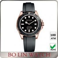 Super Luminous Solid 316 Stainless Steel Dive Watch With Rubber Strap 44mm Case Manufactures