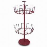 Revolving 3-tier Shoe Rack in Red and Tiers Revolve for Easy Access to Any Shoes Manufactures