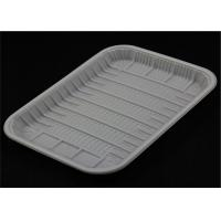 Recyclable Lunch PP Food Tray White And Black Color Custom Printing For Fruit Shop Manufactures