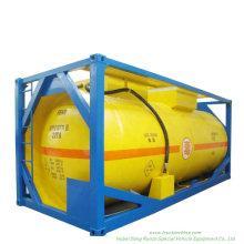 20FT Pressure Tank Container for Liquid Ammonia Un1005 Liquid Nh3 (IsoTank Ammonia, anhydrous) Road Transport