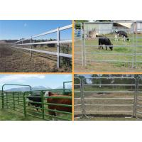 China Easily Assembled Farm Fence Panels 1.8*2.1m Round Pipe Cattle Yard Gates on sale