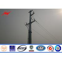 Galvanized Polygonal Tapered Electrical Power Pole For Transmission Line Project Manufactures