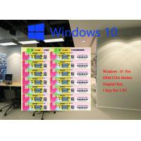 Quality 100% Genuine Microsoft windows 10 pro COA sticker 32 64 bit Systems FQC 08983,Windows 10 Pro Korean OEM for sale