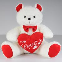 Fashion Valentines Day Stuffed Toys Teddy Bear With Red Heart Push Celebrating Manufactures