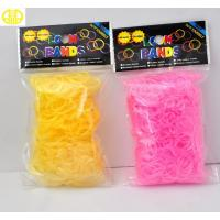 Customized Header Bag Rainbow Loom Rubber Band , Multi Jelly Color Bands Manufactures