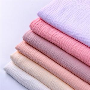 China Durable Crepe Fabric Printed Muslin Fabric 100 Percent Medical Grade Soft Feeling on sale