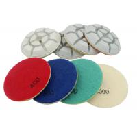 Quality 4 Inch 100mm Stone Concrete Floor Polishing Pads 8 Steps Easy Operation for sale