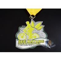 China Riding Sports Logo Custom Cycling Medals , Bespoke Custom Event Medals on sale