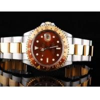 Authentic Rolex GMT watch Automatic GMT Working Full Gold With Black Dial-Green Bezel Manufactures