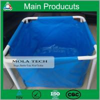China Economic Long Serve Life Collapsible Mobile PVC Tarpaulin Fish Tank Water Tank Manufacture on sale