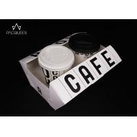 Biodegradable Paper Takeaway Boxes Water Resistant For Coffee Paper Cups / Desserts Manufactures