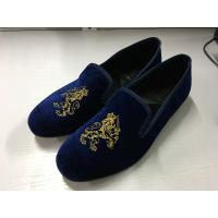Classic Mens Black Suede Loafers Cotton Fabric Lining Material Custom Design Manufactures