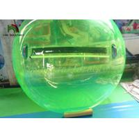 2m Green PVC Inflatable Walk On Water Ball  / Inflatable Water Walking Ball Manufactures