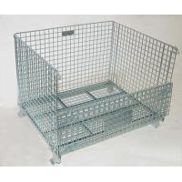 China Welded Steel Wire Container Storage Cages Butterfly Wire Mesh Pallet Cages on sale