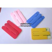 Silicon slap band 3M stickers silicone phone stand card holders for any mobile phone Manufactures